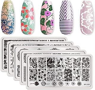 Born Pretty 5Pcs Nail Art Stamp Stamping Template Image Plates BPL026-030