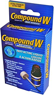 (CN) Compound W (French) Pour Enlever Les Verrus Extra-Fort Liquide A Action Rapide, Compound W Wart Remover Extra Strength Fast Acting Liquid