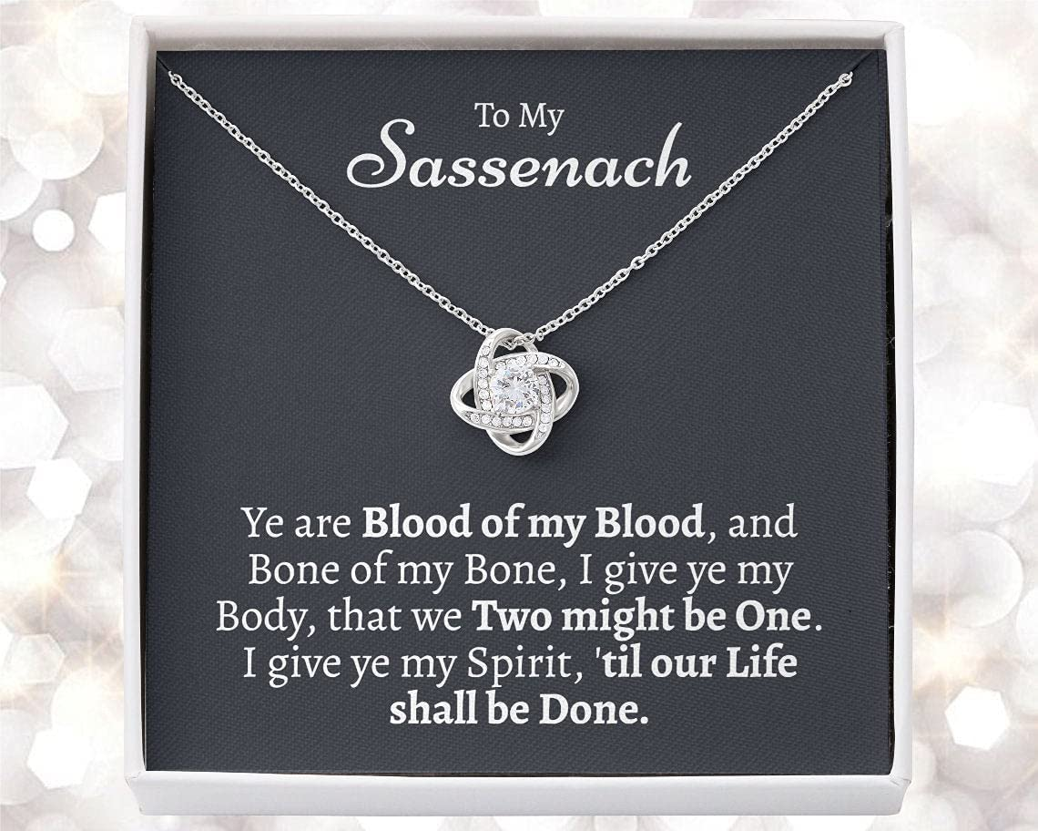 Personalized Necklace Gift - Forever Love Necklace, Outlander Gift, Outlander Gift Box, Outlander Jewelry, My Sassenach, Outlander Necklace, Outlander Gift For Wife, Outlander Charm