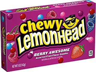 Lemonhead Chewy Candy, Berry Awesome, 5 Ounce Theatre Box Pack of 12