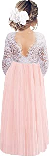 2Bunnies Girl Peony Lace Back A-Line Straight Tutu Tulle Party Flower Girl