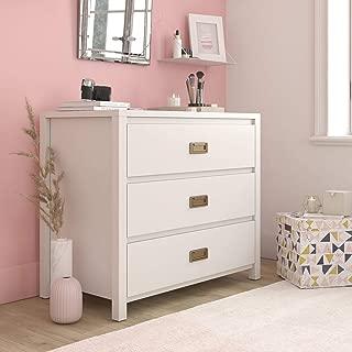 Little Seeds 1642013COM Monarch Hill Haven 3 Drawer White Kids Dresser,