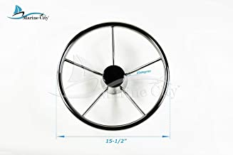 MARINE CITY Stainless-Steel 25 Degree 15-1/2 Inches Dia. 5 Spokes Steering Wheel for Boat, Yacht (Dia.:15-1/2 Inches) MC91051012
