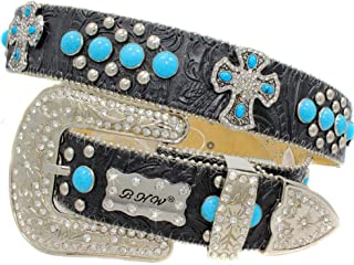 1313 Exotic White Brindle Cowhide Belts Cowgirl Bling Belts Rodeo Belts Plus Size Western Belts For Cowgirls
