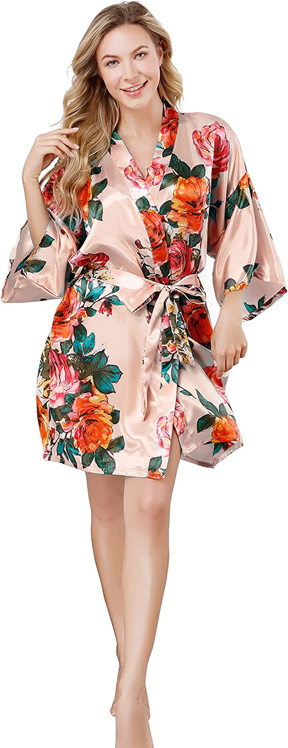 Silky Robes for mart Women Bridesmaid Party Shipping included Shor Wedding Bridal Bride