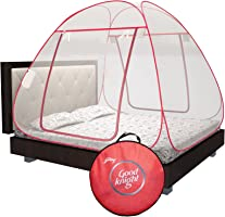 Good knight Mosquito Net for Double Bed, King-Size, Strong 30GSM net, High Durability, Foldable, Corrosion Resistant,...