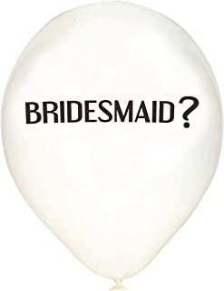 Wannabe Genius - Bridesmaid Proposal - Will You Be My Bridesmaid Balloons - Beautiful Crisp White - 6 Pack