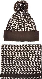 ZLYC Womens Teens Winter Warm Pompom Beanie Hat Skull Cap and Scarf Set