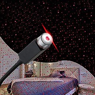 نور پروژکتور ستاره، Loyala است قابل تنظیم رعد و برق عاشقانه کهکشان اتومبیل انعطاف پذیر چراغ اتومبیل، قابل حمل شب لامپ تزئینات برای سقف، اتاق خواب، حزب و بیشتر (سیاه)