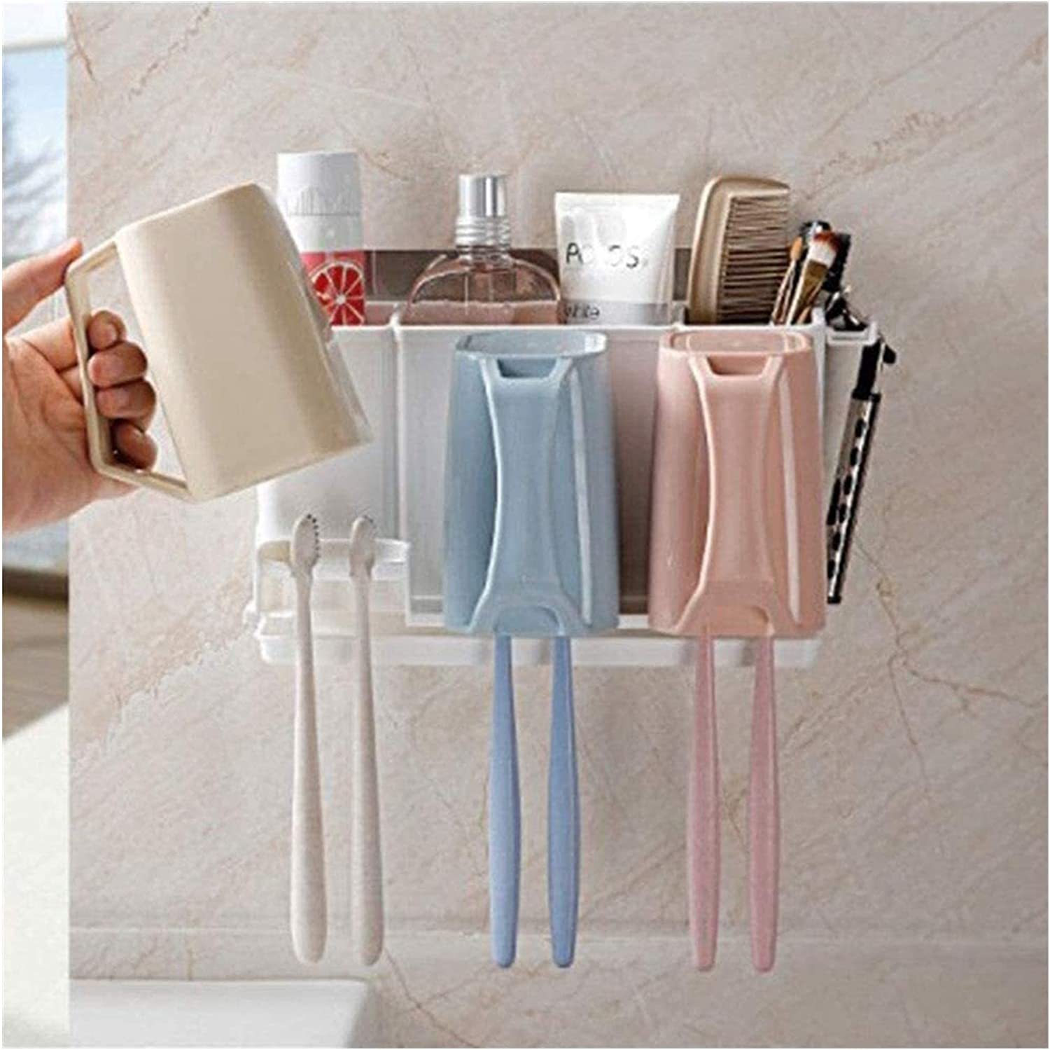 NUGYE Toothbrush Holder with favorite 3 Cups Nashville-Davidson Mall Toot 6 and