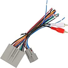 RDBS Car Aftermarket Stereo Wire Harness Power/Speaker and RCA to Sub Amp Input Connectors Fit for 2003-2008 Ford Vehicle