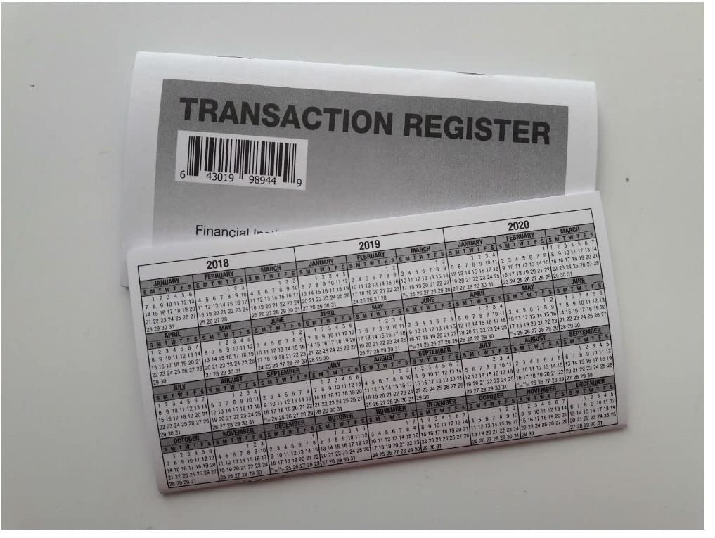 Limited time trial price 22 - Checkbook Transaction Registers Calendar Direct store Check 2018-20