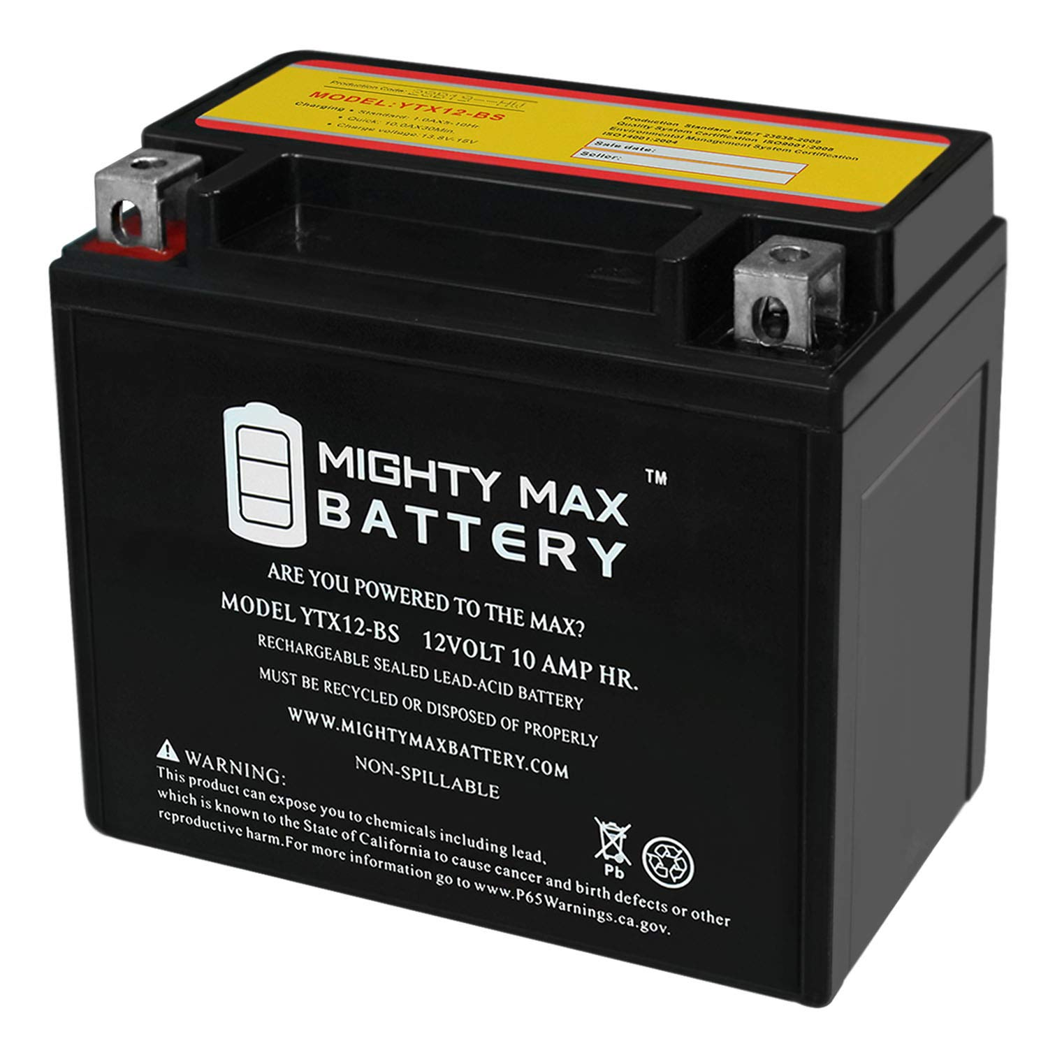 Mighty Max Battery YTX12 BS Piaggio