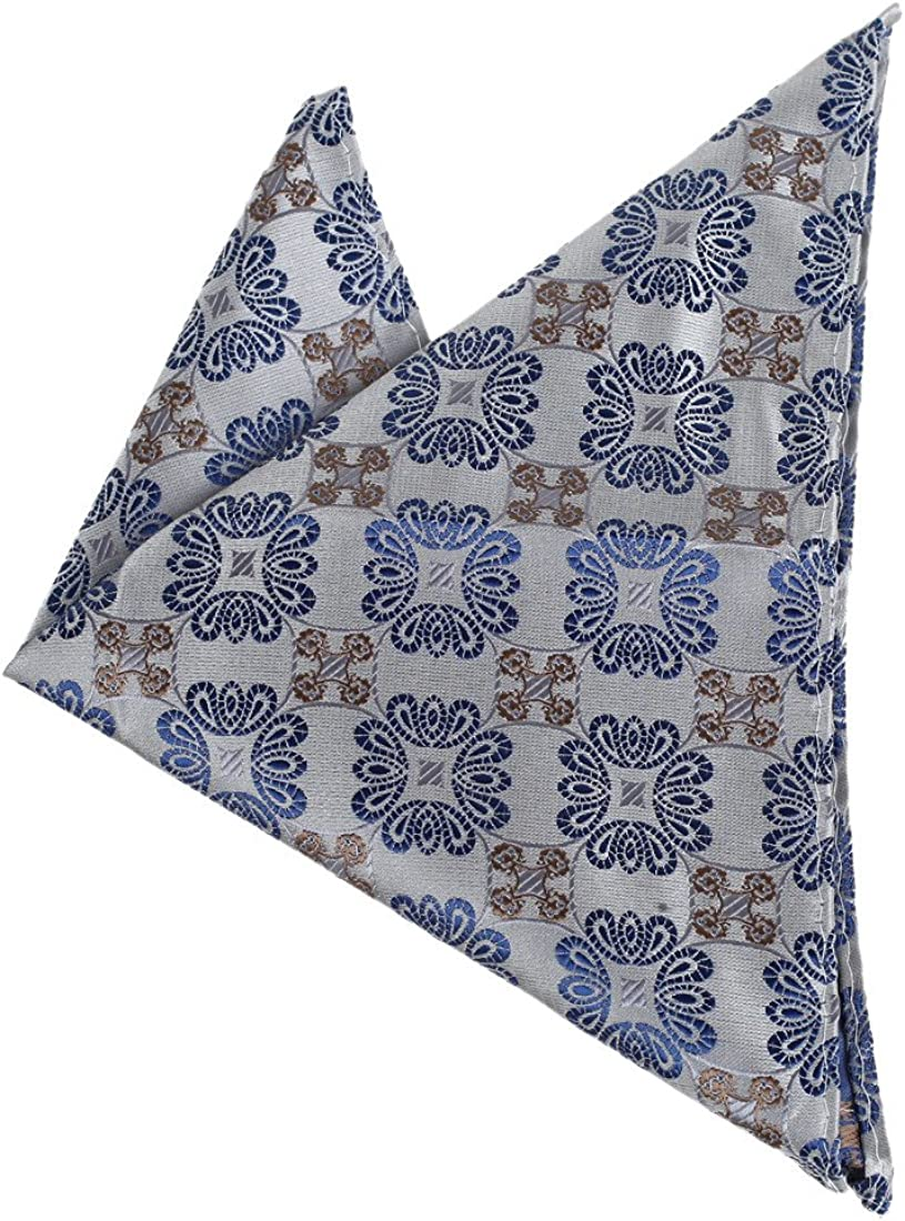 Dan Smith Men's Fashion Multicolored Patterned Hanky With Box
