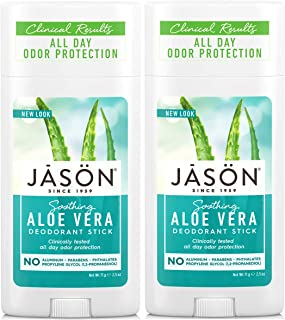 Sponsored Ad - JĀSÖN Soothing Aloe Vera Deodorant Stick (Pack of 2) with Grapefruit Seed Extract, Aloe Vera Leaf Juice and...