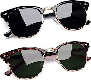 Polarized Semi Rimless Sunglasses Women Men Brand Sun Glasses UV Protection