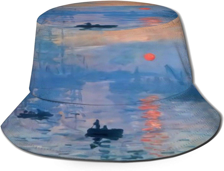 Sunrise Impression Max 41% OFF Popular overseas Monet Bucket Hat Sun Unisex Summer Packab