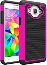 Galaxy On5 Case, Galaxy G550 Case, MCUK [Shock Absorption] Drop Protection Hybrid Dual Layer Defender Protective Case Cover For Samsung Galaxy On5/G550 (Black+Rose)