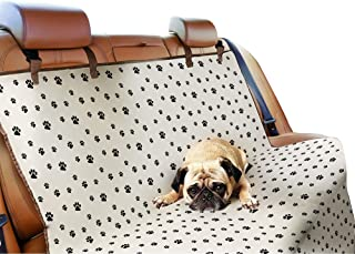 Bundaloo Dog Seat Cover for Back Seat | Car, Truck, SUV and Van Protector | Waterproof, Machine Washable, Easy to Clean | Pet Accessories