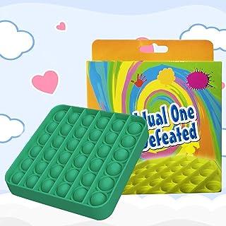 Square Shape Push pop Bubble Fidget Sensory Toy Fidget Toy Autism Special Needs Stress Reliever for Homeschool & Office(wi...