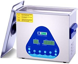 Professional Ultrasonic Cleaner-DK SONIC Sonic Cleaner with Heater and Basket for Denture, Coins,Small Metal Parts,Record,Circuit Board,Daily Necessaries,Tattoo Equipment,Lab Tools,etc(3L 120W)