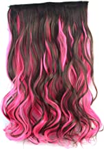 Nishore High Temperature Fiber Curly Fake Hair Synthetic Clip in Hair Extensions Full Head Clip in Synthetic Hair for Women