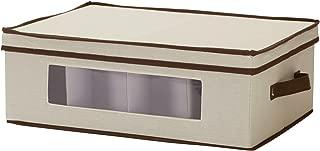 Household Essentials 531 Mug and Tumbler Vision China Storage Box Chest, Natural