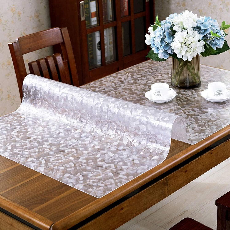 Tovaglia impermeabile trasparente tovaglia in PVC, strofinabile curvabile, copertura for tavolo da tavolo spessa 1,5 mm, Home  Cucina  Ristorante AA (Coloreee   B, Dimensione   60x130x0.15cm)
