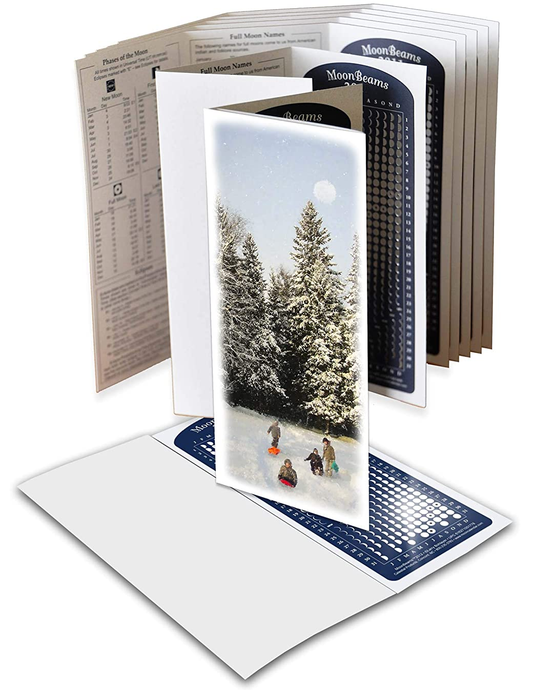 Moon Calendar 2019, Winter Greeting Cards, 8 set