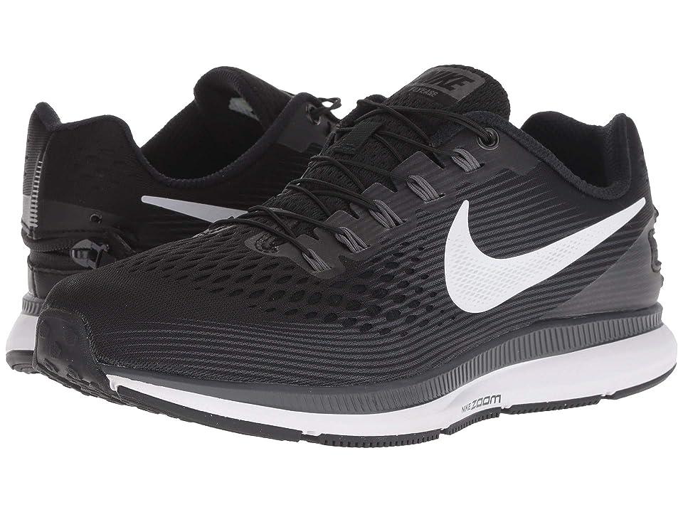 Nike Air Zoom Pegasus 34 FlyEase (Black/White/Dark Grey/Anthracite) Men