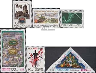 Russland 294,295,315-317,319 (Complete.Issue.) 1993 City Wyborg, Kremlin, Denmark u.A. (Stamps for Collectors)
