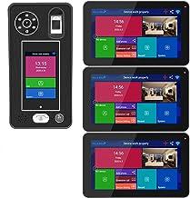 HBHYQ Apartamento de 9 Pulgadas 3 monitores WiFi inalámbrico Video Door Teléfono Timbre Sistema de intercomunicación 1080p...