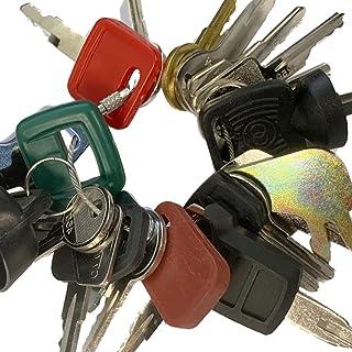 Heavy Equipment Key Set 24 Keys ON Ring FITS: Bobcat CASE Caterpillar Clark Fiat GEHL Genie...