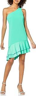 فستان Lunaria للنساء بكتف واحد غير متماثل من Trina تورك