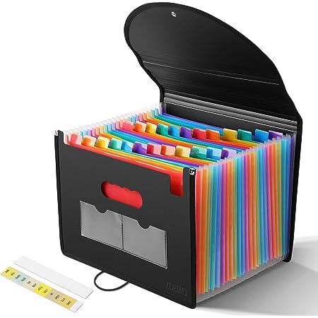 Cartelle Portadocumenti Multicolore XCSW Cartella Portadocumenti A4 Porta Documenti Per Scrivania Ufficio 13 Tasche Espandibile Impermeabile a Fisarmonica per Casa Scuola e Lavoro