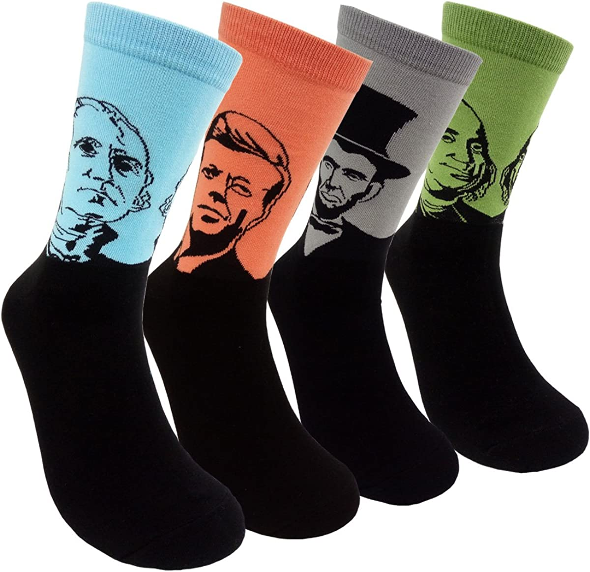 Famous Painting Art Printed Mens Dress Socks - HSELL Crazy Patterned Fun Crew Cotton Socks