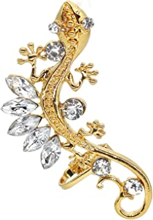 Lizard Earrings for Women,Gecko Zircon Ear Wrap Earrings,Animal Climbing Ear Cuff Earrings Hypoallergenic for Girls, Vinta...