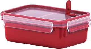 TEFAL Master seal Micro Box 1.0Litre Food Container with Inserts, Red, Plastic, K3102312