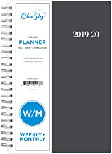 Blue Sky 2019-2020 Academic Year Weekly & Monthly Student Planner, Flexible Cover, Twin-Wire Binding, 5