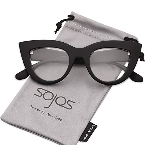 4aeda6ceb2 SOJOS Retro Vintage Cateye Sunglasses for Women Plastic Frame Mirrored Lens  SJ2939
