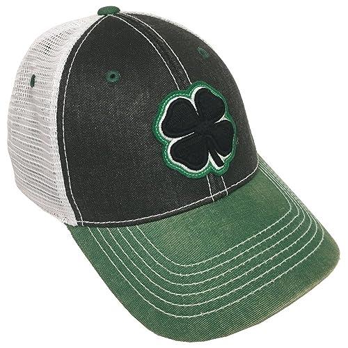 Black Clover Black Green White 2-Tone Vintage  11 Snapback Hat dc28ae387726