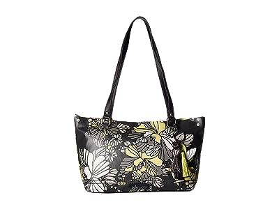 Sakroots Artist Circle Small Satchel (Slate Flower Blossoms) Tote Handbags