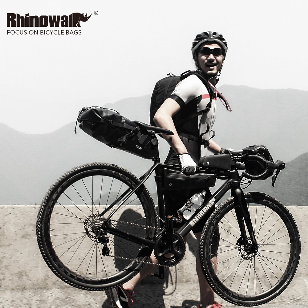 Rhinowalk Bike Bag Bike Top Tube Bag Bike Frame Bag Waterproof and Stable Bicycle Frame Bag Bicycle Bag Professional Cycling Accessories ,Black