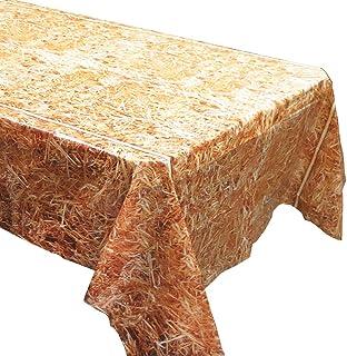 أغطية طاولات من القش (2)، أعياد الميلاد الغربية، لوازم حفلات رعاة البقر، ديكورات حفلات الحصان