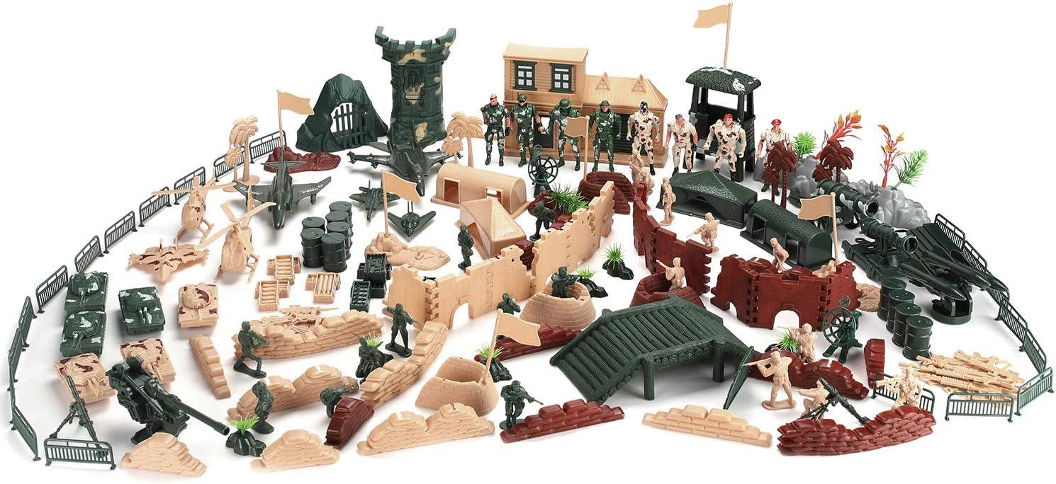 Hautton Max 81% OFF Toy Army Men Set trust 200 Figure Military Action PCS Plastic