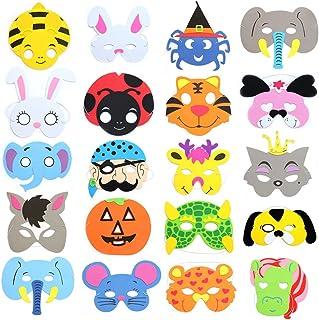 RETON Máscaras de Animales de Espuma Infantil para Fiesta, Paquete de 40