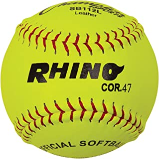 Champion Sports Optic Yellow Leather Softballs - 12 Pack
