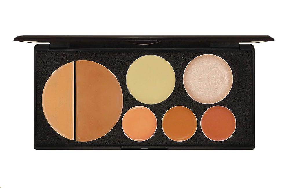 EVE PEARL Flawless Face Contour Palette Full Coverage Foundation Concealer Blush Highlighting Skincare Make Up Set- Dark