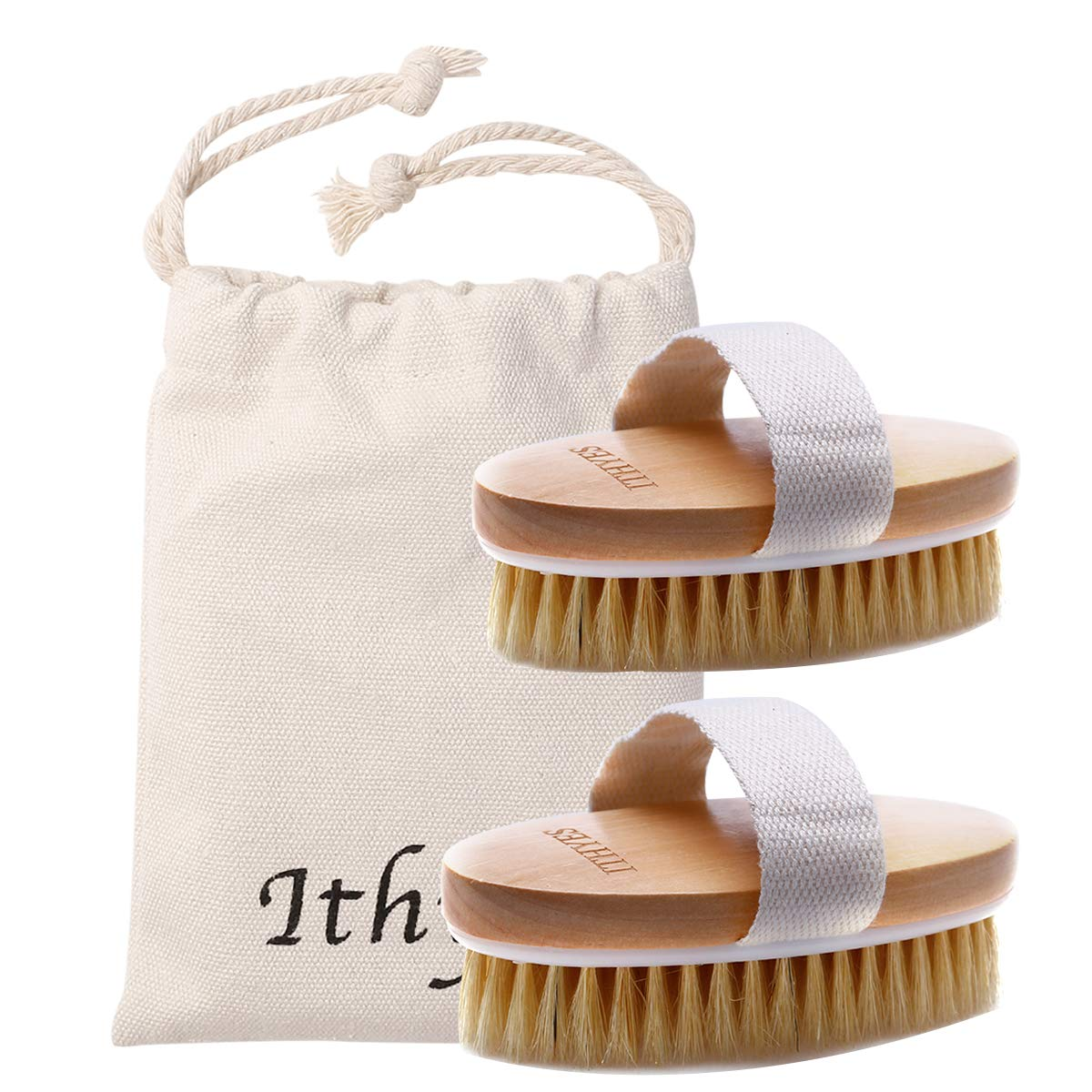 Super Special SALE held 2PCS Manufacturer regenerated product Ithyes Dry Brushing Body Exfoliating Brush Natural Br