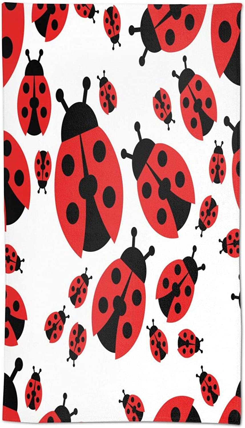 Mount Hour Cartoon Red Ladybug Hand Soft Face Ranking TOP19 Gues Towel Over item handling ☆ Towels